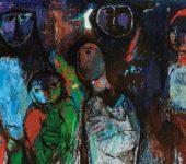 لوحة مجموعة العائلة للفنان فائق حسن